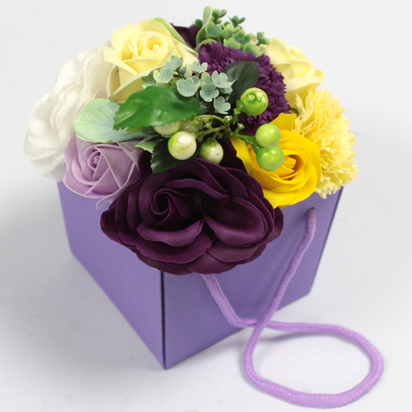 Flower garden soap flower bouquet purple flower garden soap flower bouquet izmirmasajfo Images